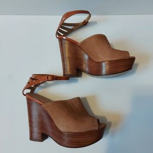 New See By Chloe Wedge Sandals